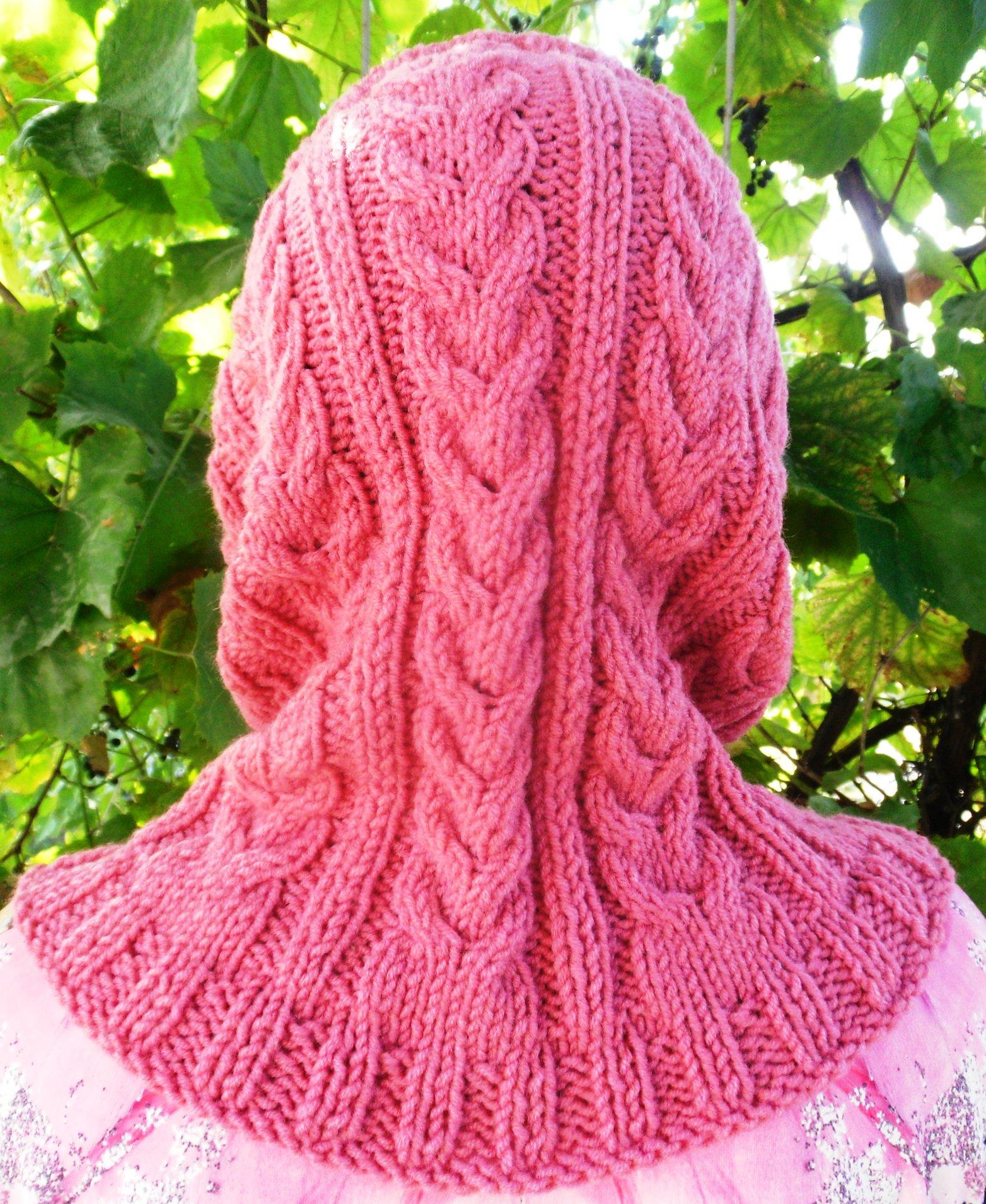 Вязание спицы модели с косами 73