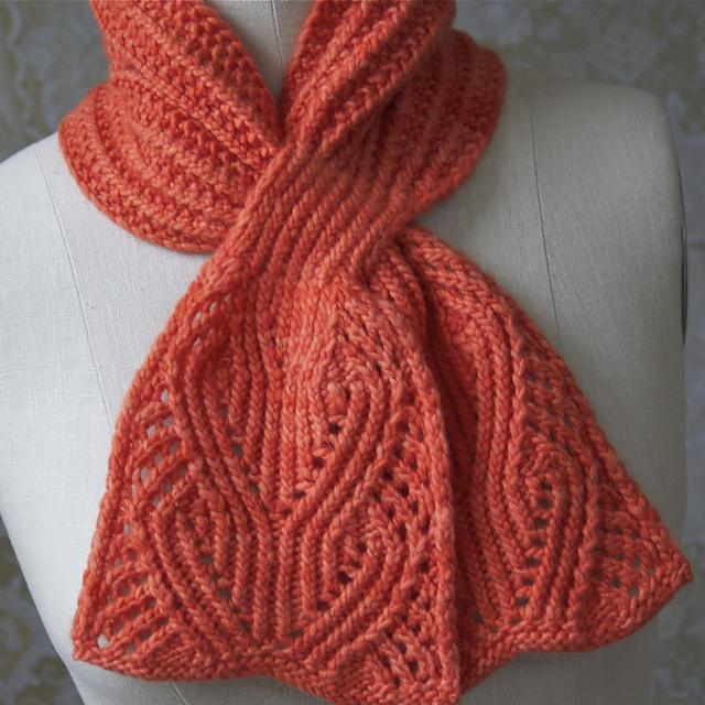 Вязание шарф с петлей 288