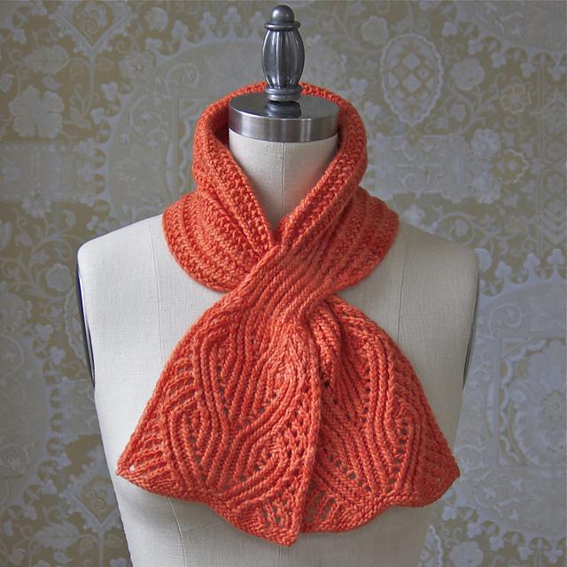 Вязание шарф с петлей 243