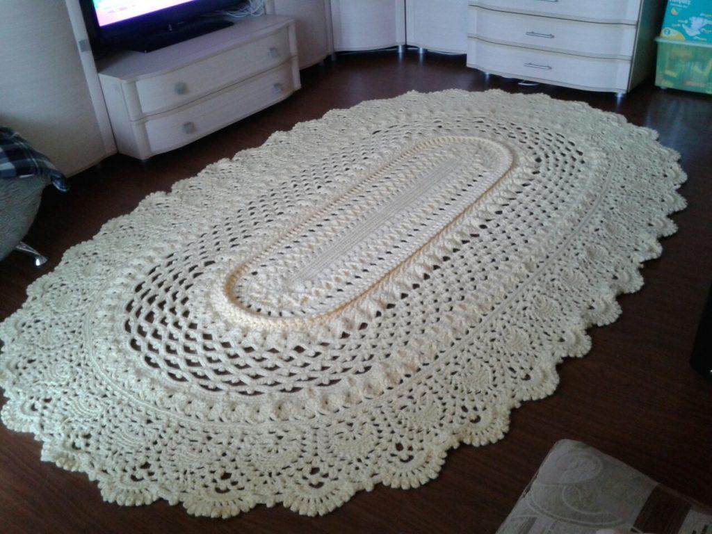 Вязание коврика майское чудо