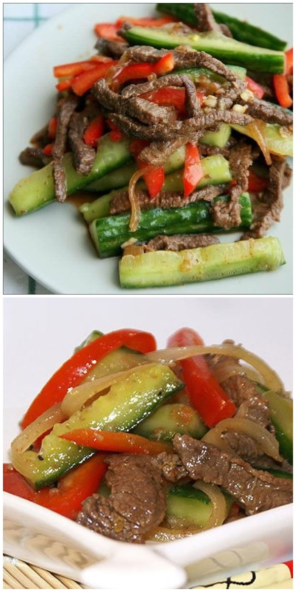 Легкий, быстрый салат всего за несколько минут из 3-х ингредиентов и никакого майонеза