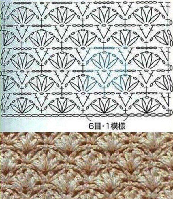 Узор для вязания пуловера крючком