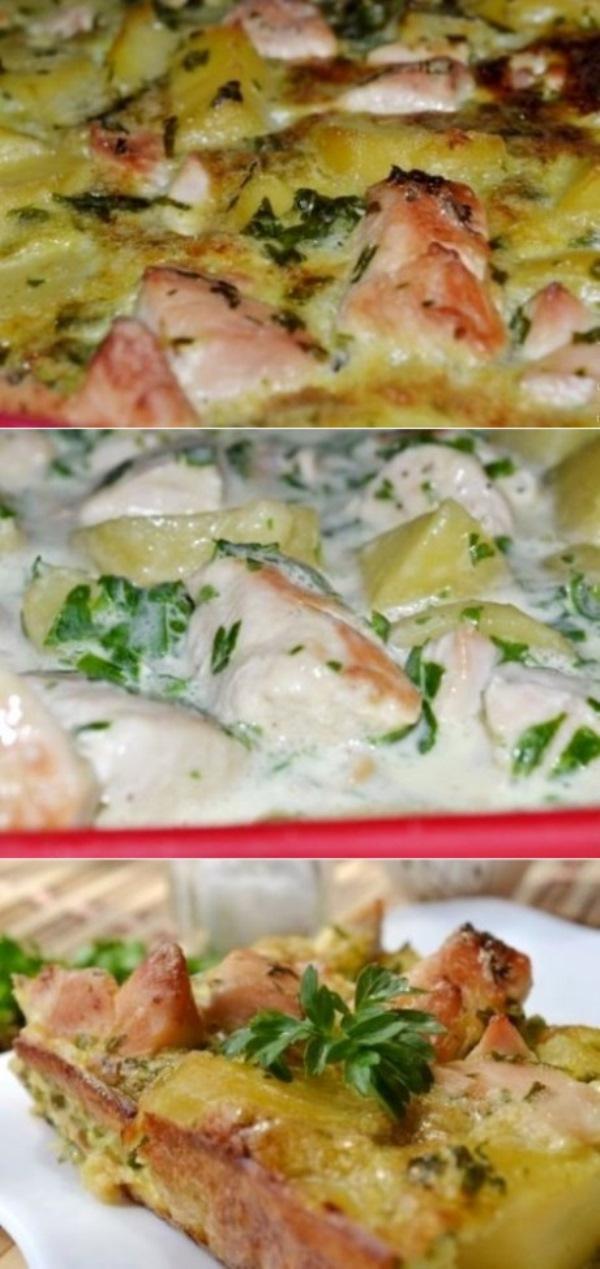 Обалденная картофельная запеканка с курицей по маминому фирменному рецепту.