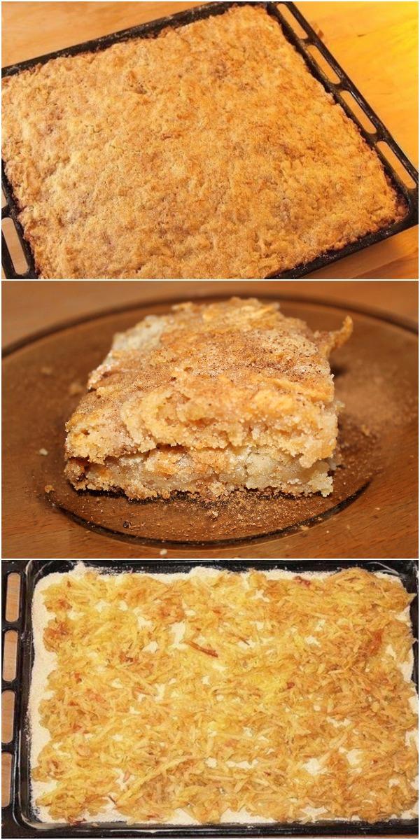 Моментальный яблочный пирог без яиц «Проще не придумаешь».